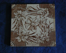 Original Victorian Transfer Tile with Blossom        #1002