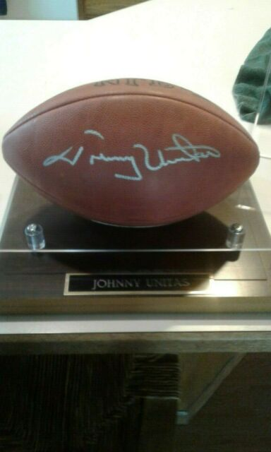 Johnny Unitas signed football