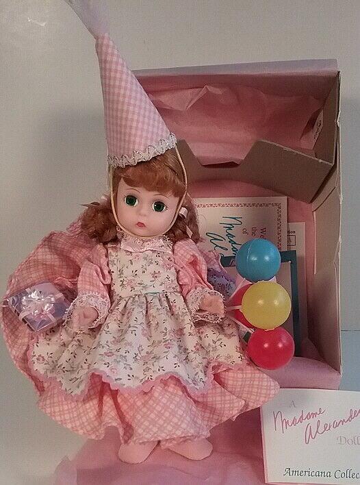 Feliz Cumpleaños rosado Outfit Americana serie 1993 Madame Alexander Doll