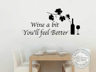 I IMPROVE WITH WINEwall sticker quote kitchen living room wall decals