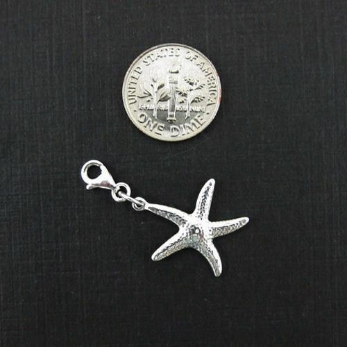 Star Fish Charm Sterling Silver Bracelet Charms-Silver Starfish Add on Charm