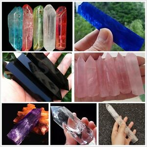 1Pcs-Large-Natural-Rock-Clear-Quartz-Crystal-Terminated-Wand-Point-Healing