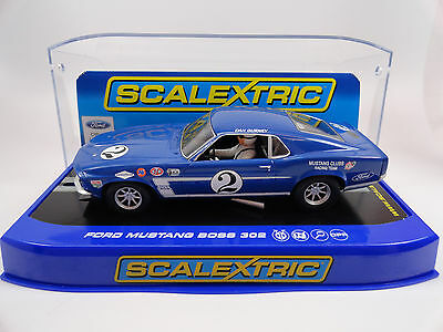 "Scalextric ""Mustang Club"" Ford Mustang Boss 302 US Excl. DPR 1/32 Slot Car C3539"