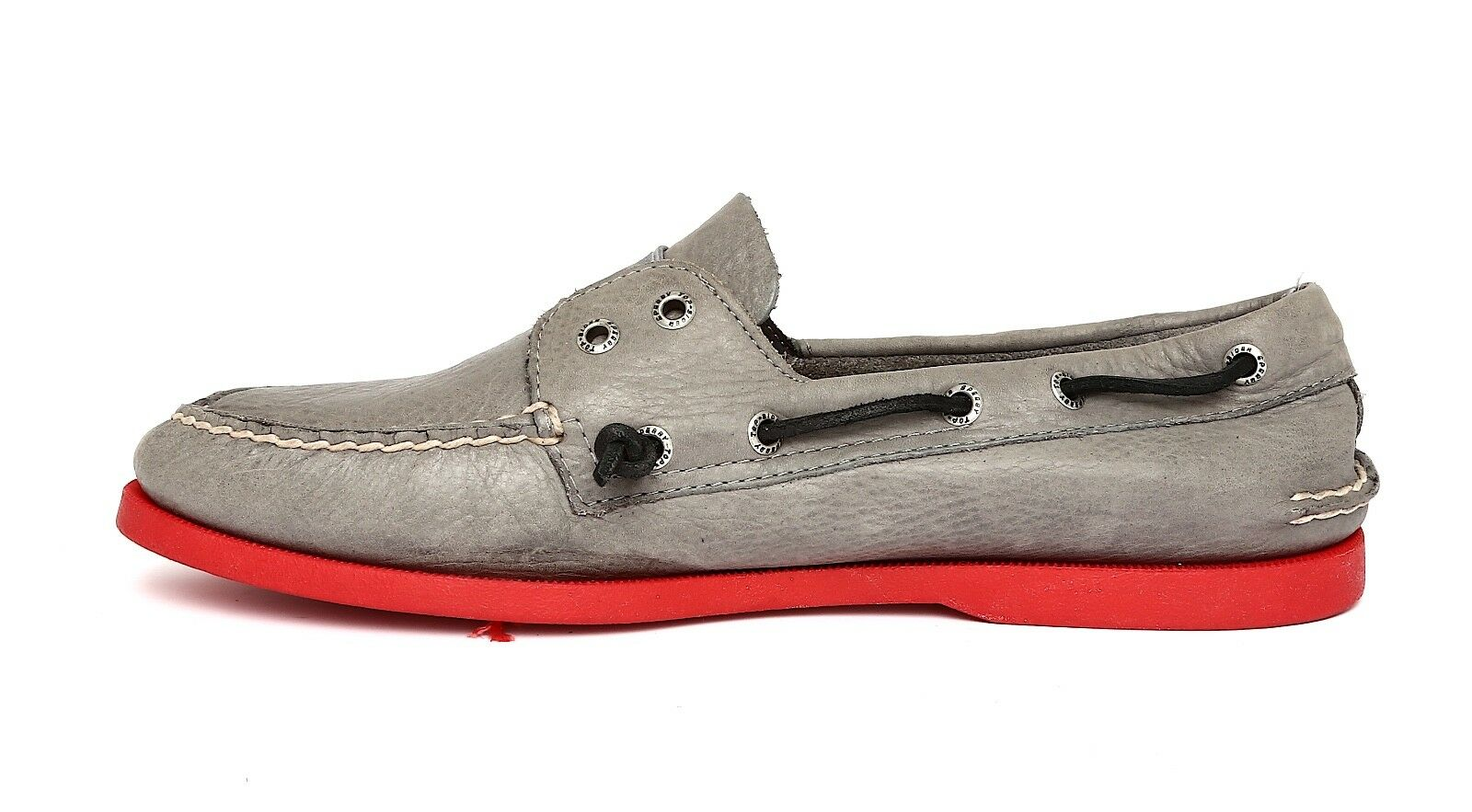 Sperry Top Grey Sider Men's Grey Top Leather Boat Shoes Sz 10M 2663 12a3bd