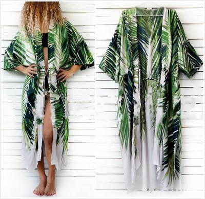 AU SELLER Oversize Chiffon Kaftan Cardigan Long Top Beach Kimono Cover sw082-1