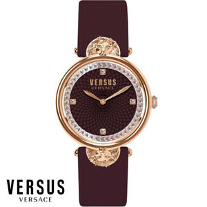 Versus-by-Versace-VSP331518-Victoria-Harbour-rosegold-braun-Leder-Damen-Uhr-NEU