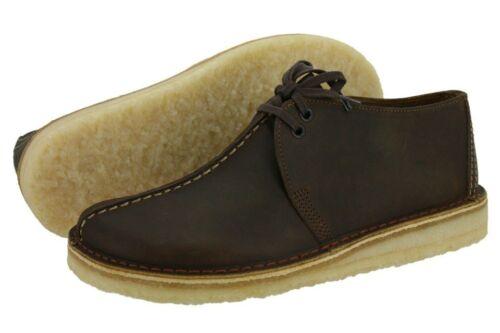 Men/'s Clarks Originals Desert Trek Brown Beeswax Leather 26134199 26113552