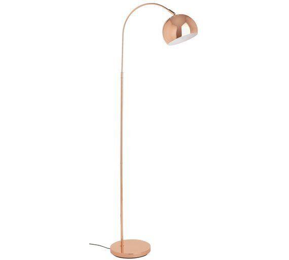 Heim Curva Stehlampe Kupfer Zarte Swooping Bogen und Groß Kapuzen Strahler Licht