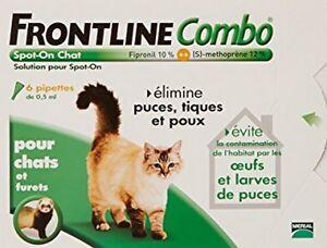 Frontline Combo Chat 6 Pipettes (lot De 2 Boîtes De 3 Pipettes) 100% D'Origine