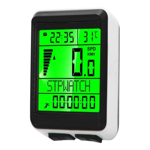Wireless Fahrrad Tacho Kilometerzähler Wasserdicht Velometer mit LCD Display