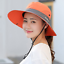 Safari Hat With Ponytail Hole Sun Bucket Hats Outdoor UV Protection