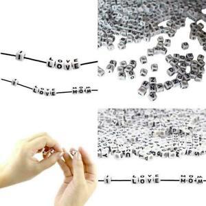 100X-Spacer-Acryl-Perlen-Diy-Wuerfel-Herstellung-Loose-Mixed-Alphabet-Schmuc-F2C1