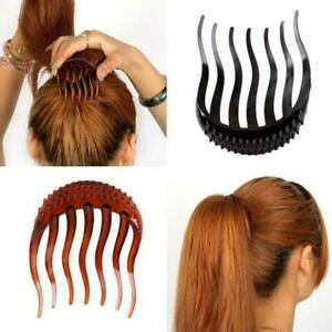 Women-Ponytail-Inserts-Hair-Clip-Hairpin-Hair-Comb-Tools-Styling-I0D7