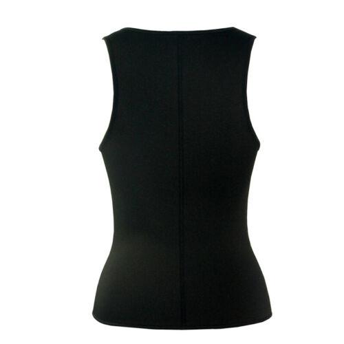 Damen Yoga Korsett Taille Trainer Sauna Sweat Body Shaper Weste Top Zip Mieder