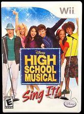 High School Musical Sing It! Nintendo Wii 2007 Disney Video Game Disc Booklet