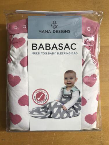 TOG 1.0 /& 2.5-0-6 months Multi Tog Baby Sleeping Bag Pink Hearts BABASAC