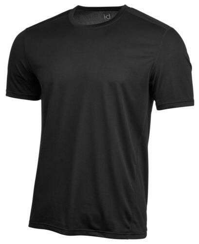 $115 Ideology Men/'S Black Stretch Rapidry Short Sleeve Crew-Neck Mesh T-Shirt Xl
