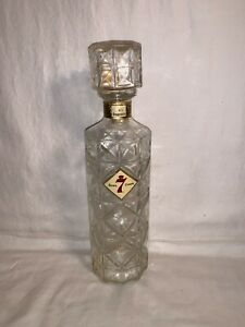 Vintage-SEAGRAMS-Seven-7-Crown-BLENDED-WHISKEY-4-5-Bottle-Decanter-Clear-GLASS