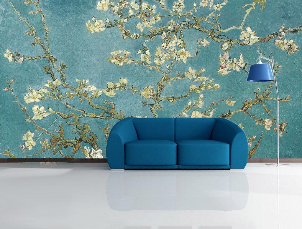 3D Blauer Hintergrund Blumen 7 Tapete Wandgemälde Tapete Tapeten Bild Familie DE