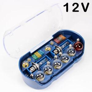 H7-Lampenset-Sicherungen-Set-12V-30-tlg-Auto-Lampen-Box-Birnen-Bremslicht-KFZ