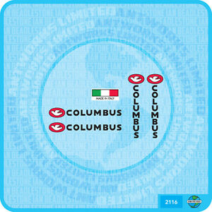 Columbus Fork /& Chain Stay Bicycle Decal Transfer Sticker Set 54