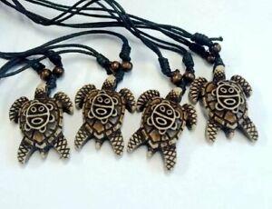 Alert 12pcs Imitation Yak Bone Carving Tribal Sun Smiley Turtle Charm Necklace Ebay