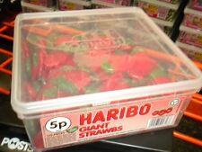 HARIBO 120 GIANT STRAWBS 1200g UK SWEETS PARTY HALLOWEEN BIRTHDAY ETC & FREE P&P