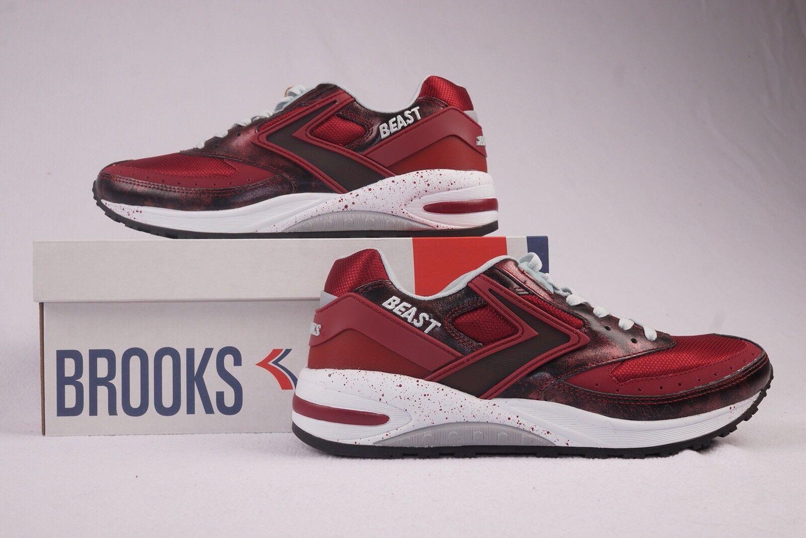 Brooks Beast 1 Mens Running shoes Rumba Red Sneakers Vintage 90s TB NIB New