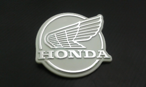 HONDA C50 C65 C70 C90 C100 CUB FRONT LEG SHIELD WING BADGE EMBLEM MONKEY UK