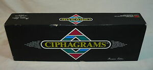 RARE - CIPHAGRAMS BOARD WORD GAME PREMIERE EDITION 1988
