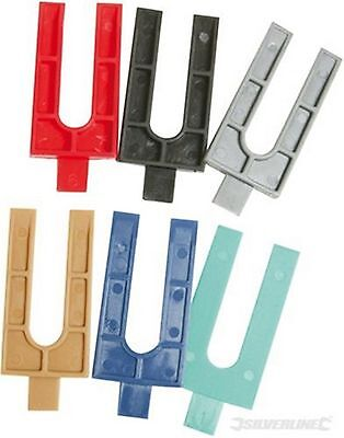 Silverline 100 Pack Assorted Plastic Packers Window Fitting Cladding Glazing New