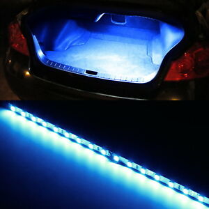 Blue 18 smd led strip light for car trunk cargo area or interior image is loading blue 18 smd led strip light for car aloadofball Images