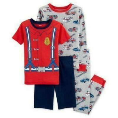 Carter/'s Boys/' One Piece Snug Fit Cotton Pajamas Blue Red Firetruck 6M 2T 4T