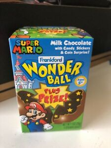 Super Mario Bros Surprise Toy Coin Wonder Ball Rare Chocolate Candy