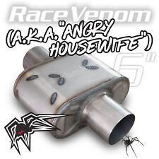 Black Widow Exhaust Muffler Race Venom Angry Housewife 3 Center Center
