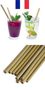 1x 3x 5x 10x pailles en bambou écologiques réutilisables Biodégradable 20cm