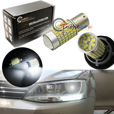 2 CANbus White 144-SMD LED Bulbs Fit Volkswagen Jetta MK6 Daytime Running Lights
