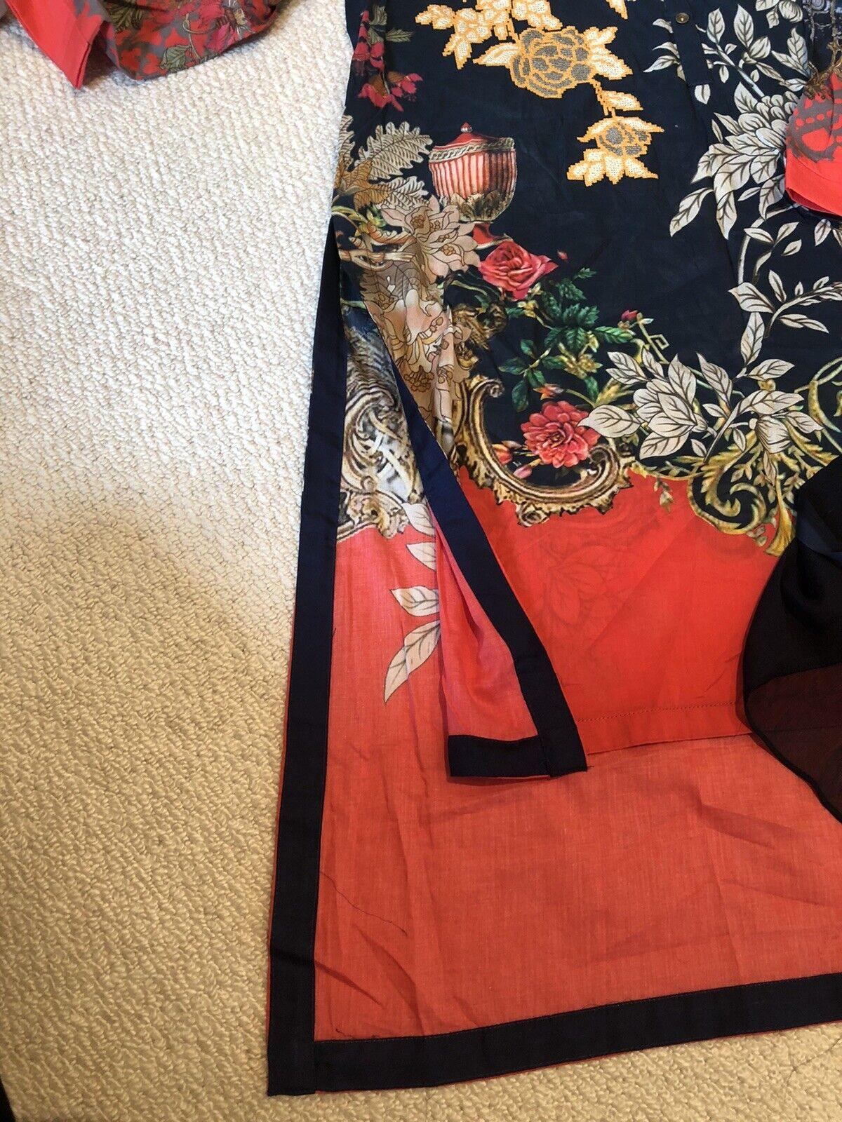 Limelight Medium Lawn Embroidered Kurta With Chiffon Dopatta
