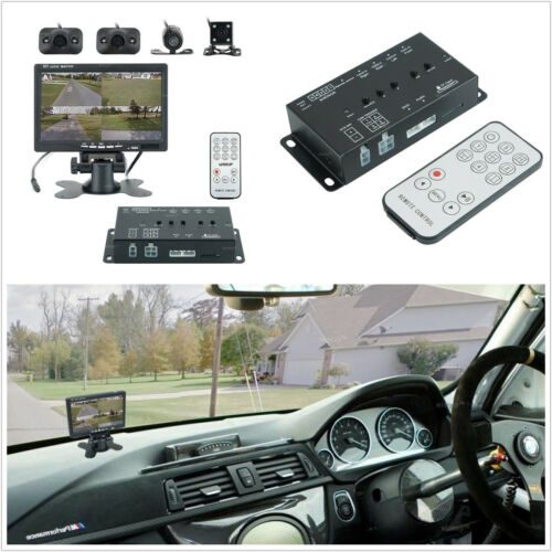 Car SUV 4-CH 360° All Around View System DVR Camera Night Vision & 7 HD Monitor