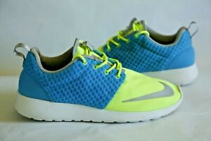 Nike-Roshe-Run-FB-Current-Blue-Men-039-s-Size-9-Athletic-Shoes-Sneakers