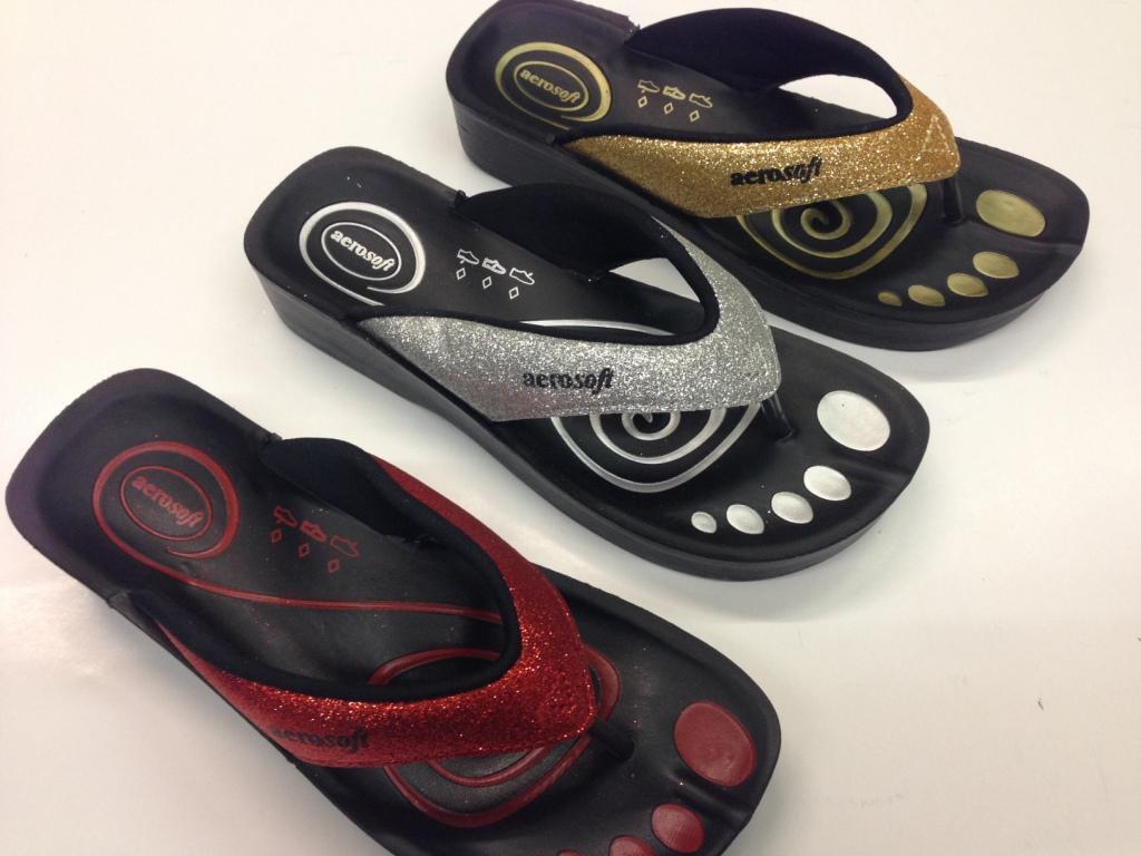 Aerosoft Ladies Sandals Orhopedic Comfort Sandals Choice of Colours Shimmer