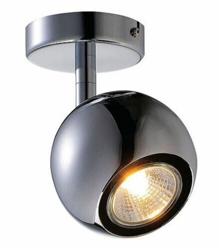 Wand Deckenstrahler GU10 LED Halogen1flammig chrom Kugel 230V  #1582