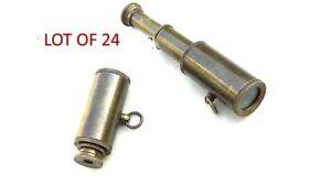 Laton-Laboral-Miniature-Macizo-Collar-Estilo-Telescopio-amp-Colgante-Lote-de-24