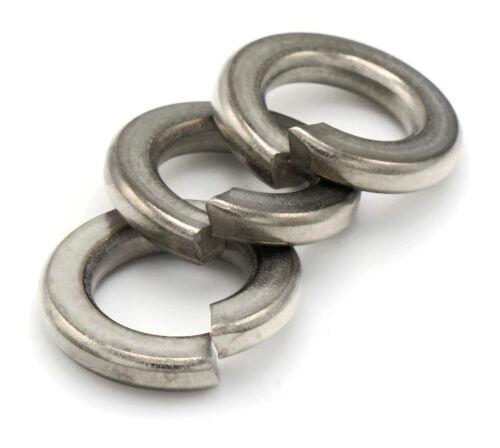 Metric Sizes M2 to M24 Stainless Steel Lock Washers Medium Split Ring