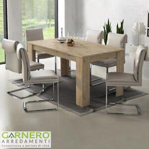 Tavolo Rovere Moderno.Dettagli Su Tavolo Allungabile Bob Rovere Moderno Design Cucina Soggiorno 6 8 Posti 140 200