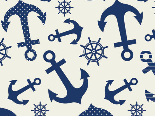 """BLUE INDIGO ANCHORS Print Tissue Paper Sheets 15/"""" x 20/"""" Choose Package Amount"""