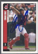 Cleveland Indians EINAR DIAZ Signed Card