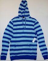 Pacsun Vurt Code Blue Pullover Striped Mens Hoodie  M L XL