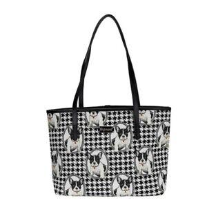 Franzoesische-Bulldogge-Signare-Damen-Handtasche-French-Bulldog-Gobelin-Tapestrie