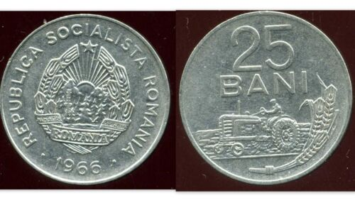 ROMANIA  ROUMANIE  25 bani 1966 etat